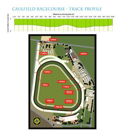 コーフィールド競馬場コース図